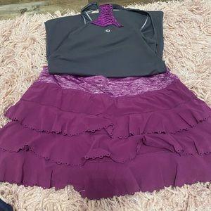 Lululemon tennis skirt and top